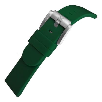 Marc Coblen / TW Steel Silicone Watch Strap Dark Green 22mm
