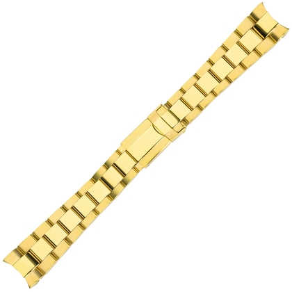 Oyster Watch Bracelet 'type Rolex' Stainless Steel Gold 20mm