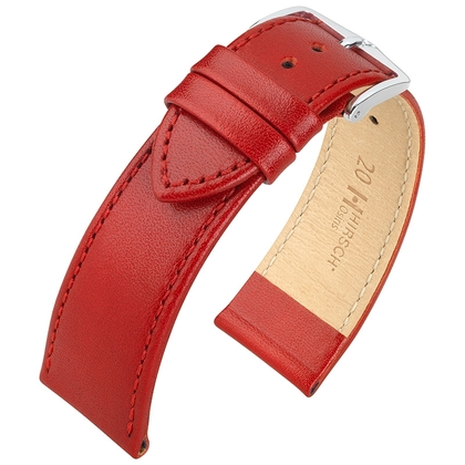 Hirsch Osiris Watch Band Box Leather Red