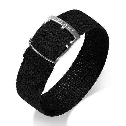 Eulit Perlon Watch Strap Kristall Black