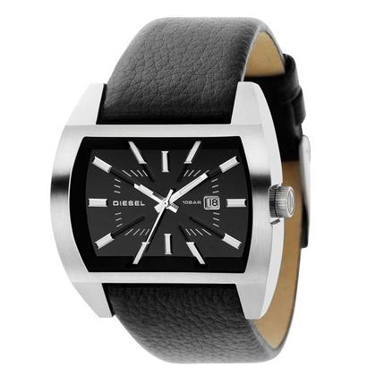 Diesel DZ1116 Watch Strap Black Leather