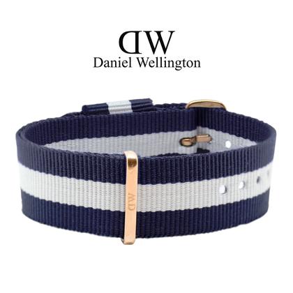 Daniel Wellington 20mm Classic Glasgow NATO Watch Strap Rosegold Buckle