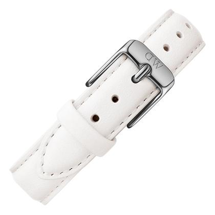 Daniel Wellington 12mm Petite Bondi White Leather Watch Strap Stainless Steel Buckle
