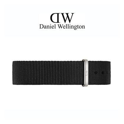 Daniel Wellington 14mm Petite Cornwall Black Nato Watch Strap Stainless Steel Buckle