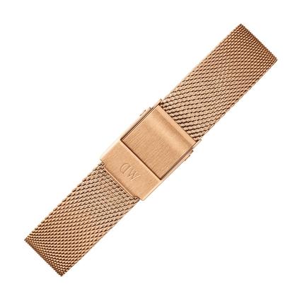 Daniel Wellington 14mm Petite Melrose Mesh Watch Bracelet Rosegold