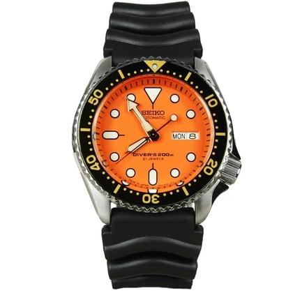 Seiko Diver Z22 Watch Strap SKX011 Black Rubber