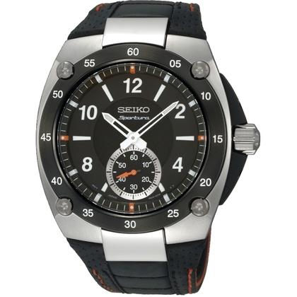 Seiko Sportura Watch Strap SRK023P2 Black Leather