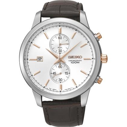Seiko Quartz Watch Strap SNN277P1 Brown Leather