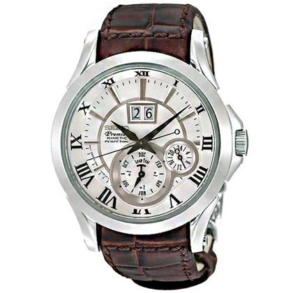 Seiko Premier Watch Strap SNP023P1 Brown Leather