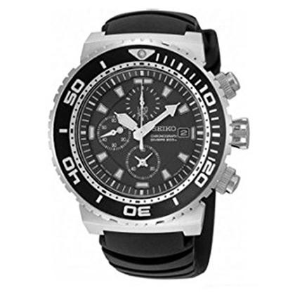 Seiko Chronograph Diver Watch Strap SNDA13P2 Black Rubber