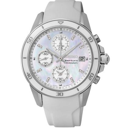 Seiko Sportura Watch Strap SNDX57P1 White Rubber