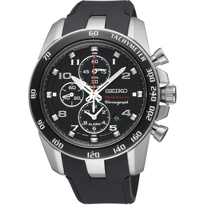 Seiko Sportura Watch Strap SNAE87 Black Rubber
