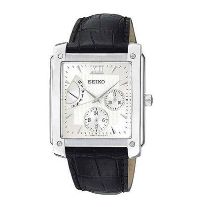 Seiko Watch Strap SNT007 Black Leather