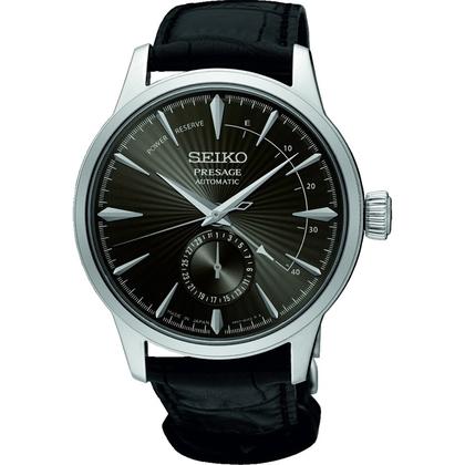 Seiko Presage Automatic Watch Strap SSA345 Black Leather