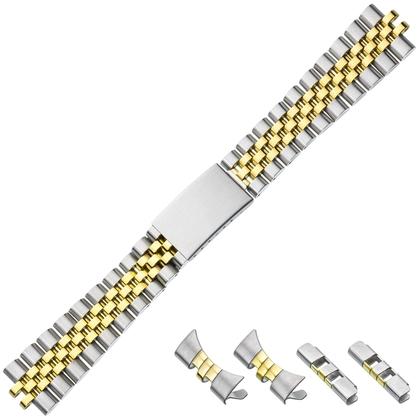 Jubilee Watch Bracelet 'type Rolex' Stainless Steel Bicolor 20mm