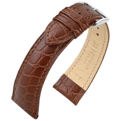 Hirsch Aristocrat Watch Band Crocograin Brown