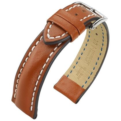 Hirsch Heavy Calf Water-Resistant Watch Band Golden Brown
