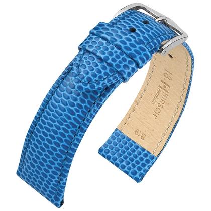 Hirsch Rainbow Watch Band Lizardgrain Light Blue